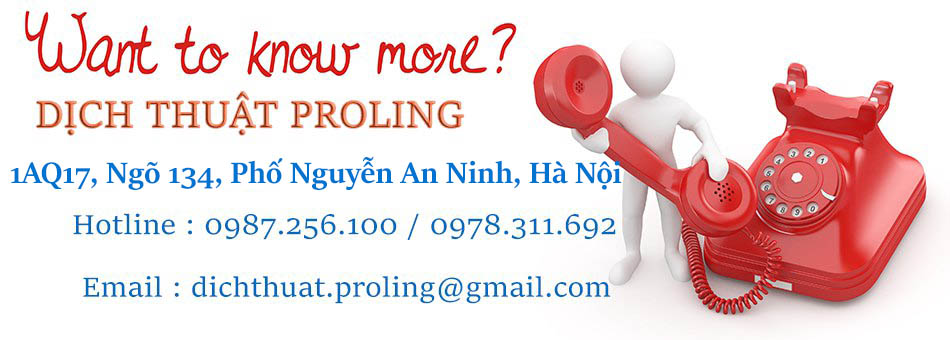 Dịch thuật tài liệu và công chứng uy tín - dịch thuật PROLING