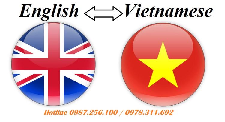 Dịch vụ dịch thuật tài liệu từ tiếng Anh Sang tiếng Việt uy tín.