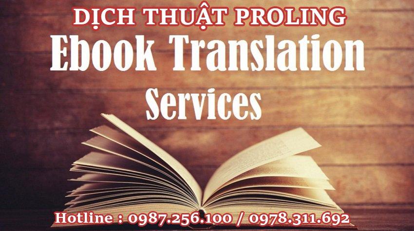 Dịch thuật sách báo tài liệu chuyên ngành sang tiếng Việt chi phí rẻ nhất tại Hà Nội