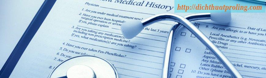 Dịch tài liệu tiếng Anh chuyên ngành y tế