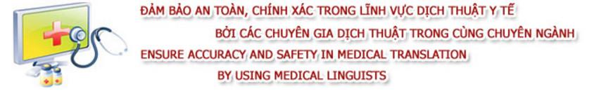 Công ty dịch tài liệu chuyên ngành y tế -đảm bảo nhất - rẻ nhất