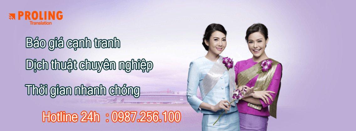 Công ty chuyên nhận dịch tài liệu tiếng Thái Lan uy tín chuyên nghiệp