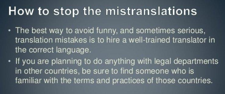Lỗi Dịch thuật thực tế - những vấn đề bạn cần biết về dịch thuật chuyên nghiệp