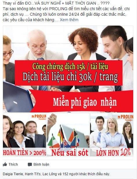 Luôn mang tới cho khách hàng bản dịch tài liệu tốt nhất với chi phí ở mức tiết kiệm nhất