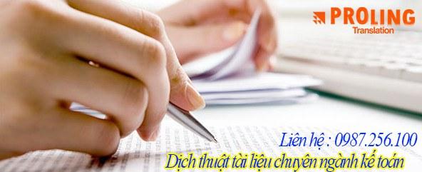 Dịch thuật văn bản - tài liệu - pheien dịch . Công chứng tư pháp tài liệu ngành kế toán