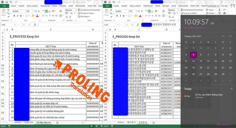 Dịch tài liệu tiếng Hàn QUốc chuyên nghiệp - uy tín - giá rẻ tại Hà Nội
