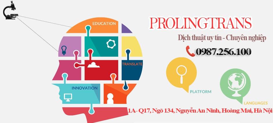 Dịch thuật chuyên nghiệp - uy tín ở Hà Nội