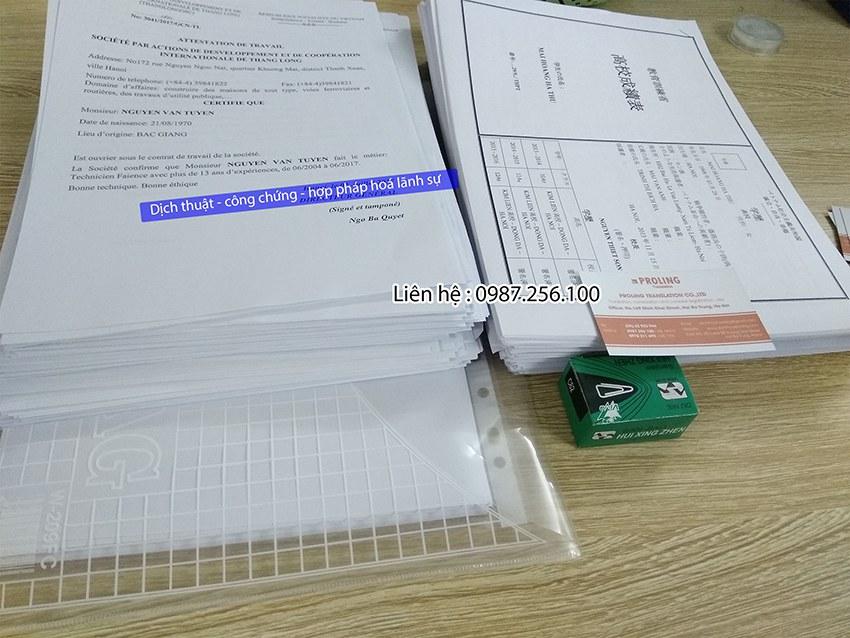 Dịch thuật tài liệu chuyên ngành công chứng ngay trong ngày