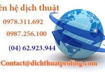 Công ty dịch thuật chuyên nghiệp tại Hà Nội