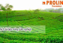 Công ty chuyên dịch tài liệu nông nghiệp