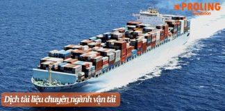 Dịch thuật tài liệu ngành vận tải