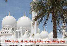 Công ty chuyên dịch tiếng Ả rập tại Hà Nội