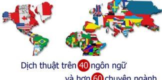 Chuyên về dịch thuật chuyển ngữ tài liệu với sự đa dạng hoá về chuyên ngành